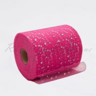 Bright Pink Sequin Tulle Roll